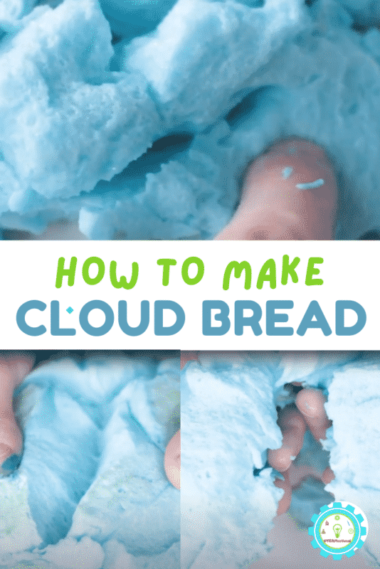 Making meringue and cloud bread is a fun science activity that will teach kids a lot about science! Keep reading to learn how to do the cloud bread experiment.
