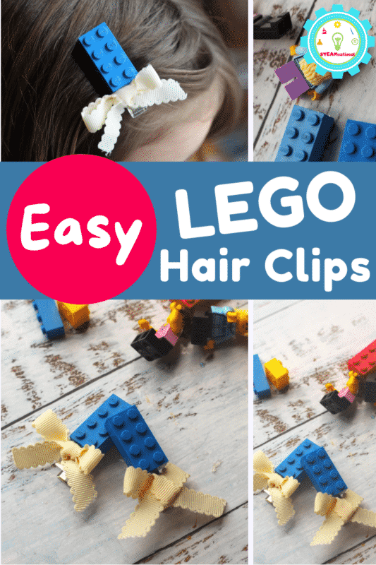 Learn how to make LEGO hair clips right here! These LEGO hair clips are super simple and easy to make and you can use bricks you already own!