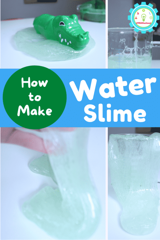 How to make water slime that looks just like fresh water! This simple slime recipe has just 2 ingredients and is so much fun!