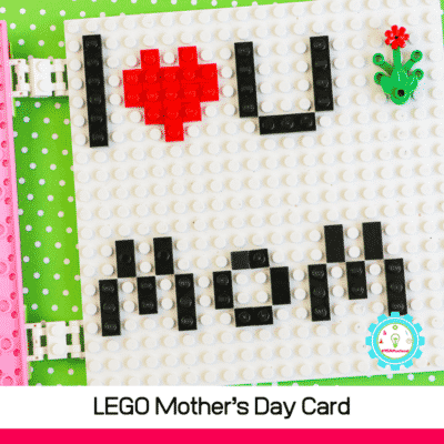 How to Build a LEGO Mother's Day Card with Just LEGO Bricks!