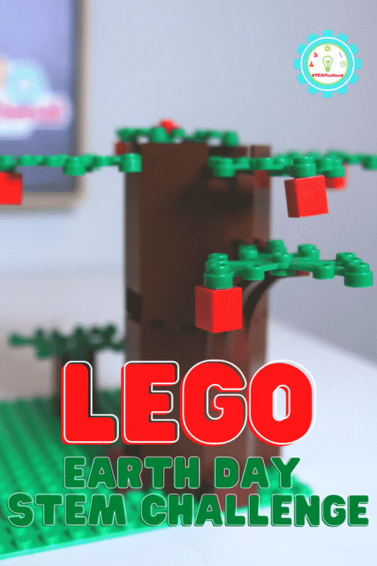 This Earth Day, challenge kids to create a tree's life cycle out of LEGO!