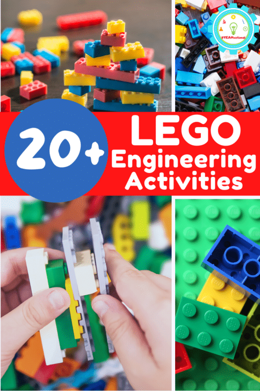 20+ fun LEGO STEM activities that will let kids explore STEM (technology, engineering, and math) in a fun, hands-on way!