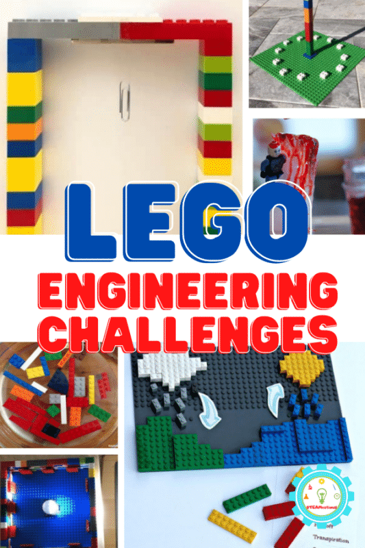 LEGO engineering challenges provide a fun way for kids to explore STEM in the classroom or home. 20+ simple building ideas to try!