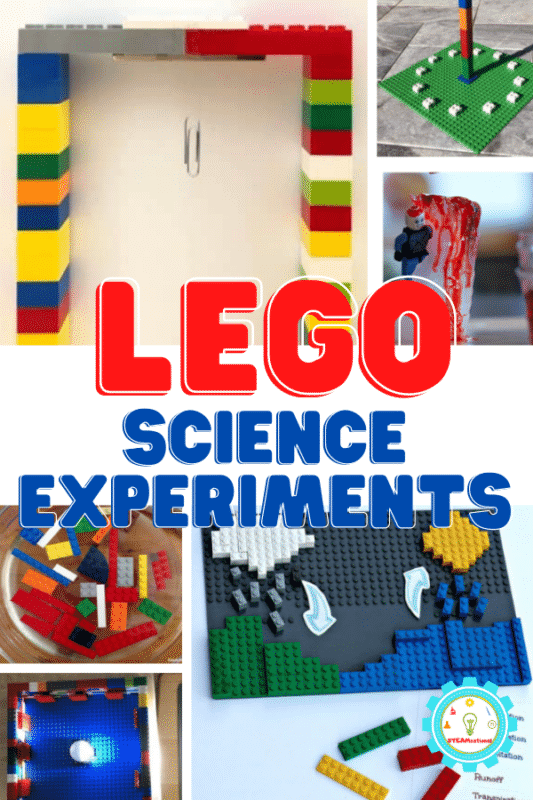 20 science experiments with LEGO that kids will love! Easy LEGO science experiments on biology, physics, chemical reactions, and more!