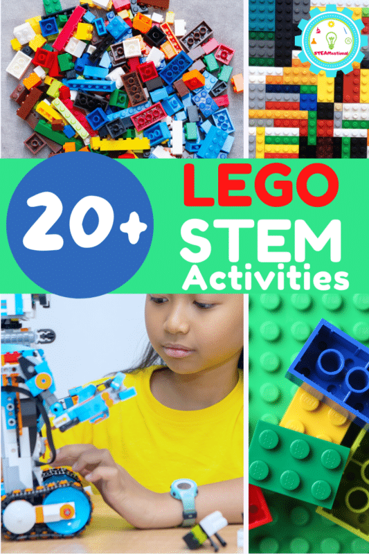 These easy LEGO STEM challenges use LEGO bricks you probably already own!