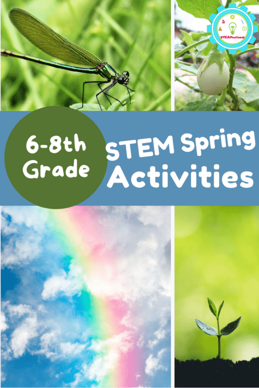 These spring STEM activities for middle school aren't boring! Hands-on lessons in earth's systems, matter, life science, and more!