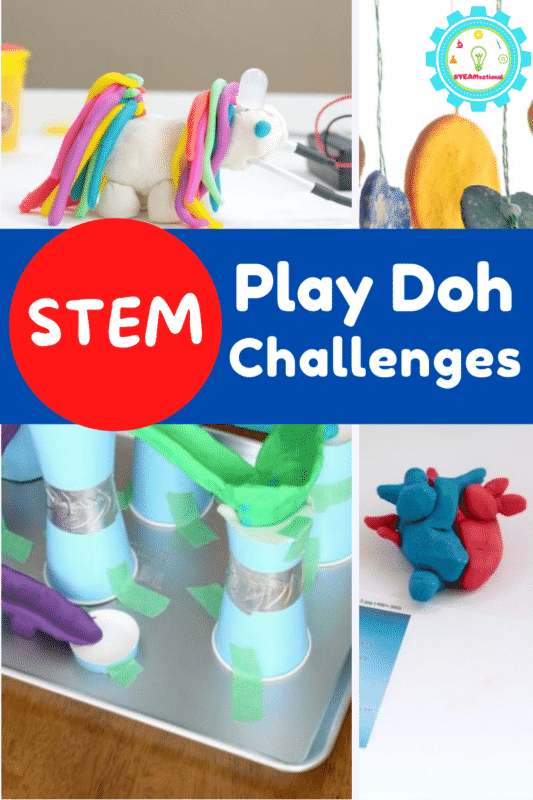 Love play doh? Try these play dough STEM activities.  15 easy play dough STEM challenges for science, technology, engineering, and math!