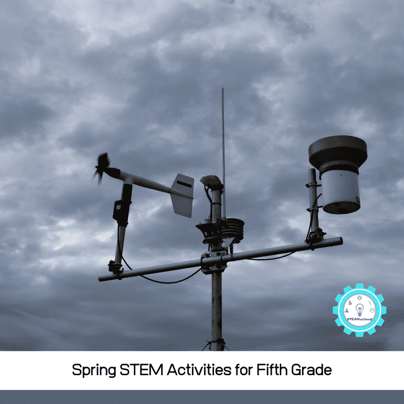 These spring STEM projects are just the perfect activities to try with a fifth grade class! You can also do them at home with 10 and 11 year olds.