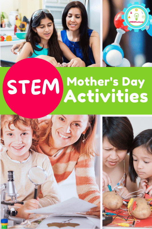 Sure, you could go to brunch on Mother's Day, but what do you do with the rest of your day? Why not spend some active learning time with your kids by trying these Mother's Day STEM activities!