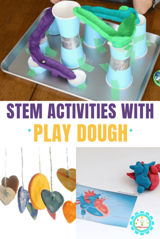 These play dough STEM activities include projects for science, technology, engineering, and math! All of the play doh challenges are designed for elementary kids and can easily be adapted for older and younger grades.