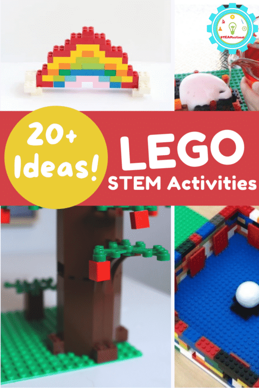 Find 20+STEM activities with LEGOs right here with unique activities for science, technology, engineering, and math!