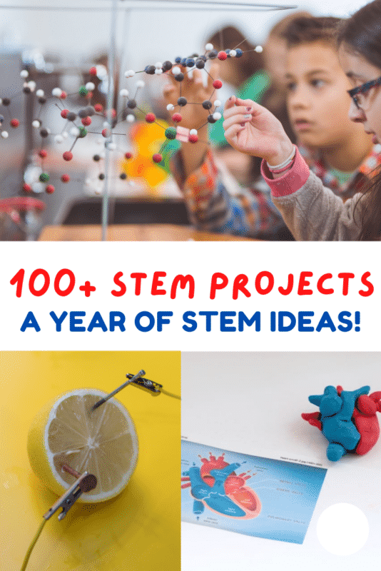 100+ STEM activities for kids using materials you already have on hand. Super easy and spectacular STEM learning for kids!