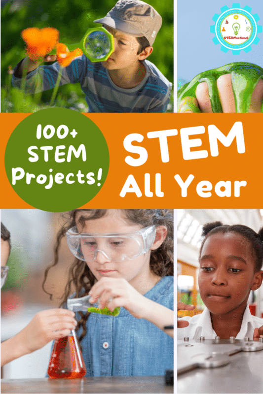 Find appropriate STEM lessons for ages toddler through middle school! A year's worth of ideas!