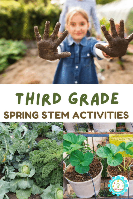 Over 20 Spring STEM Activities for 3rd grade to celebrate the return of rainbows, flowers, sunshine, and outdoor activities!