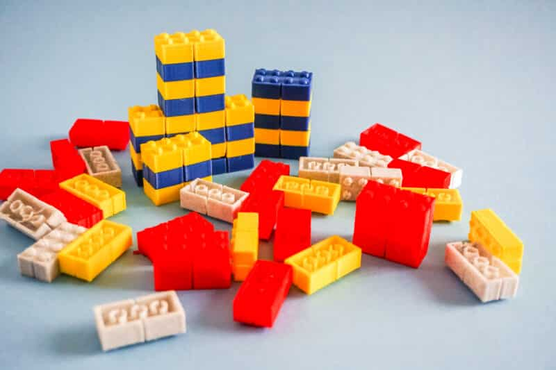 3d printed lego pieces