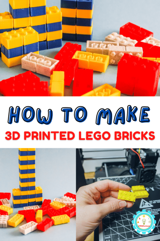 Here's how to make your own printable LEGO bricks using a 3D printer! Step-by-step directions and a 3d printer file set make it easy!