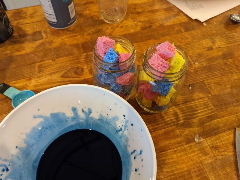 bluing crystal mixture