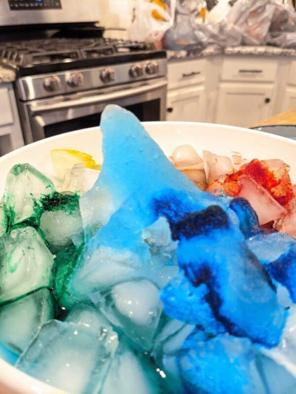 make rainbow instant ice