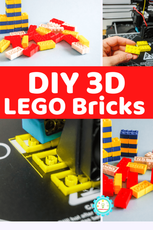 Learn how to make a LEGO brick with a 3D printer! It's easier than you think and a favorite technology activities for kids.