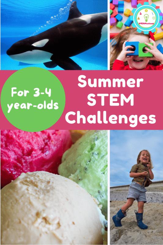 Summer STEM Activities Bucket List for Preschool! - Over 20 summer STEM activities for preschool to get them outside having fun!