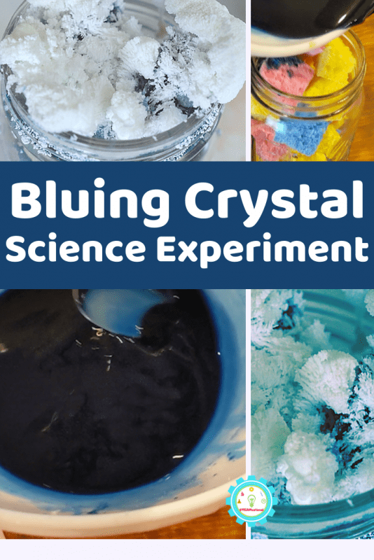Growing crystals with bluing and ammonia s easy! Get the directions and a complete science lesson plan for this crystal garden experiment.
