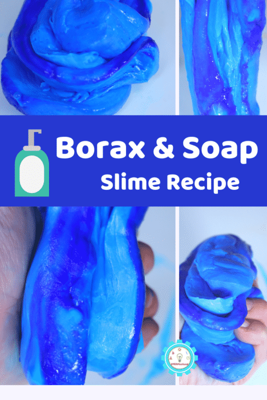 The slime that came out was a fun variation on classic borax slime and the kids had a lot of fun playing with this version. Learn how to make slime with borax and soap right here!