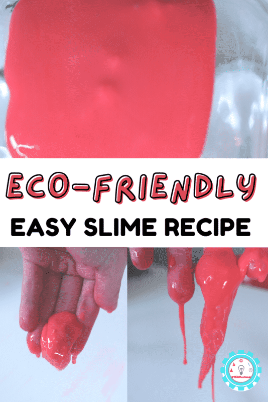 If you don't want to use glue or chemicals in your slime, eco friendly is the way to go! This slime isn't exactly like traditional slime, but it is still a lot of fun to play with and much better for the earth!