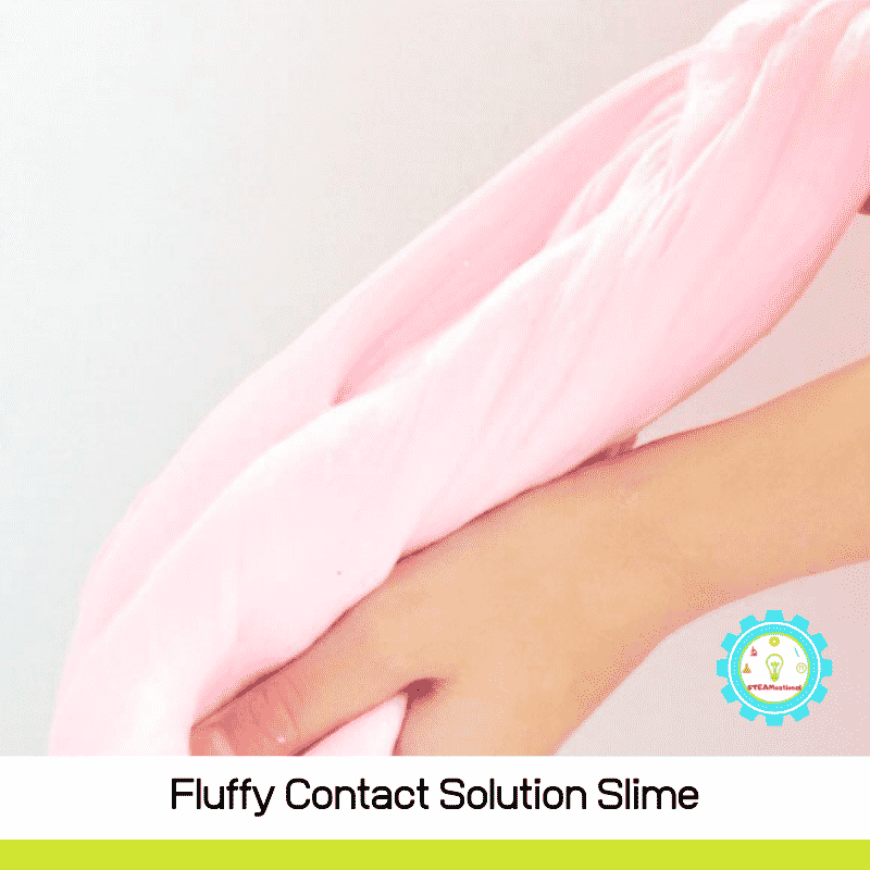 Making fluffy slime is easy, and when you use contact solution, it's even easier! This contact solution slime recipe is easy and low-mess!