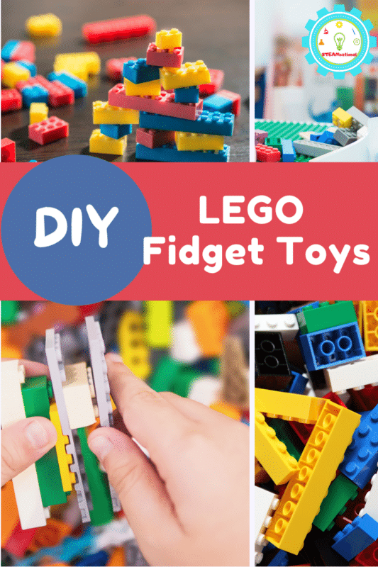 Get the directions on how to make 20 differnet types of LEGO fidget toys! There are so many options that are tons of fun for kids!