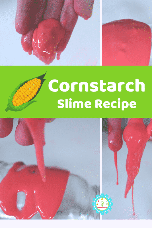 You don't need glue to make this amazing 2-ingredient cornstarch slime recipe! It's not oobleck, it's real slime made with cornstarch!
