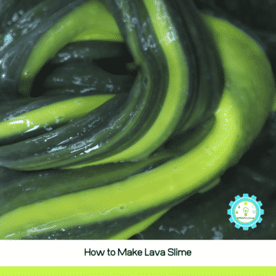Learn how to make lava slime! This easy lava slime recipe has only 3 ingredients and is so much fun to play with!