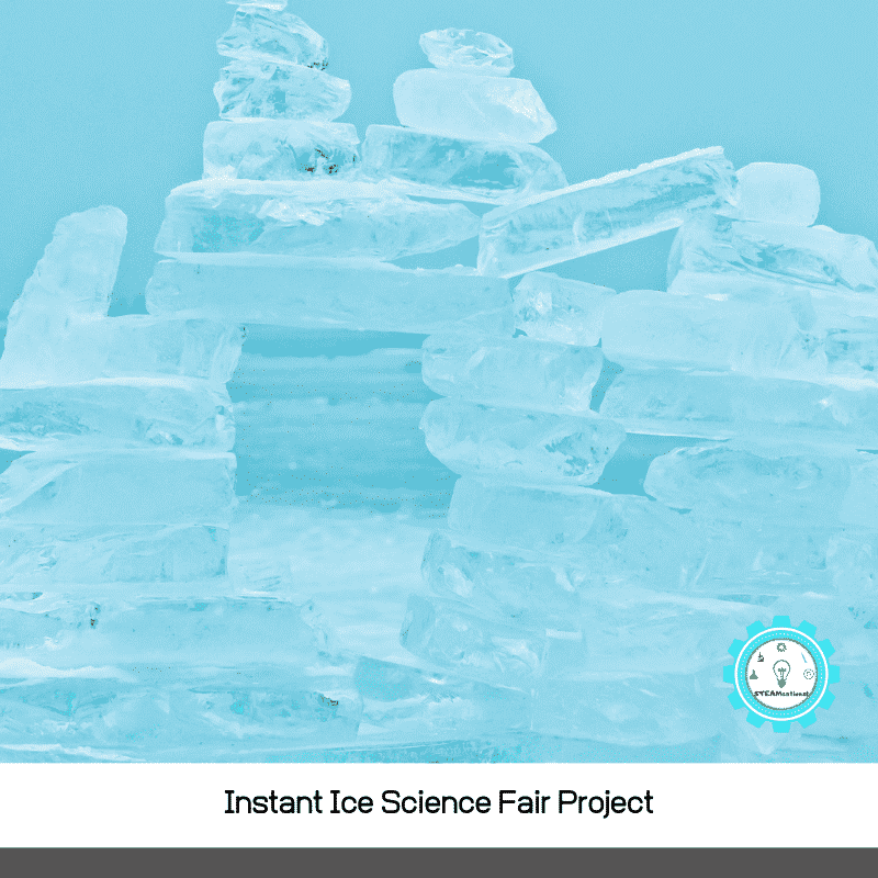 The instant ice science fair project fits the need for easy and fast science fair projects *perfectly.* Painless science fairs all around!