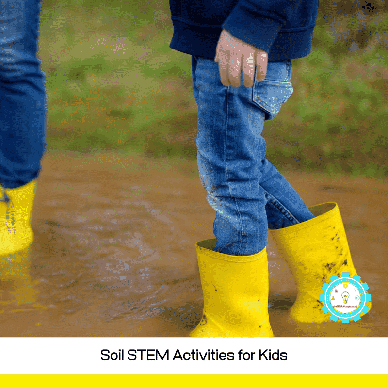 There are so many fun ways to play and learn with soil and dirt. These are some of our favorite soil science projects and soil STEM activities that feature soil.