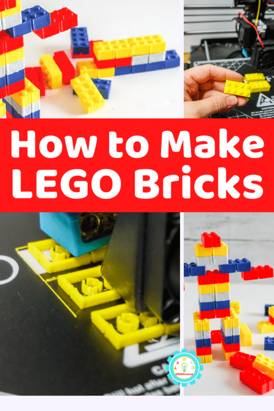 Follow along with these directions so you can print your own custom LEGO bricks! A LEGO pattern for a 3D printer is included!