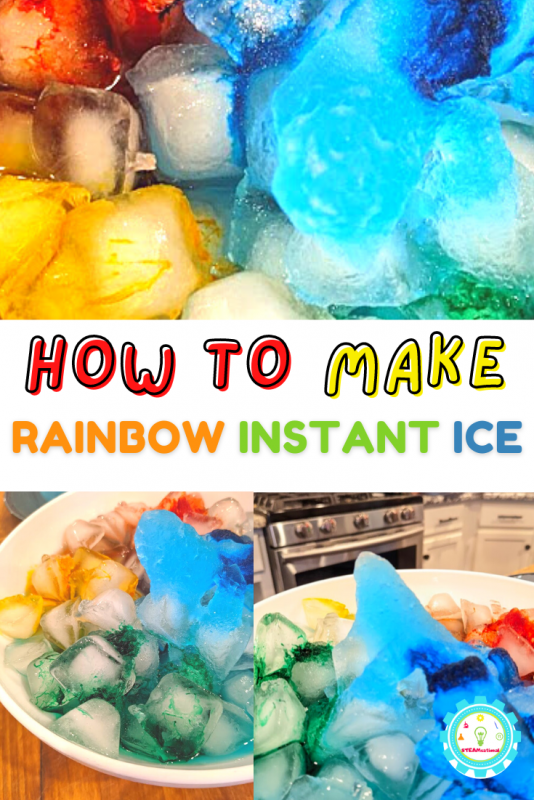 Learn how to make an instant ice rainbow! Why make boring white instant ice when you can make an ice rainbow!