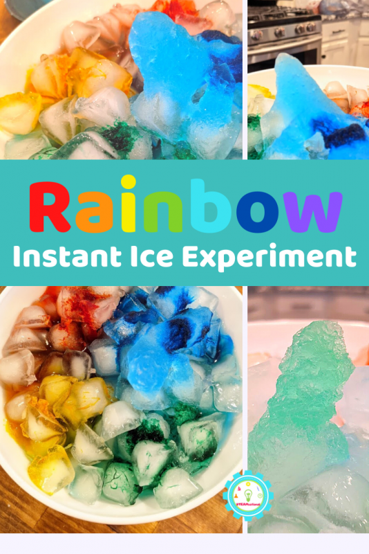 Instant ice experiments are so much fun! For this version, learn how to make rainbow instant ice! It's a fun colorful twist on a classic!