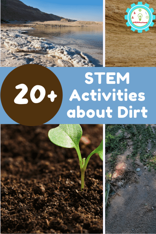 Over 10 soil STEM activities and hands-on projects to teach about soil, gardening, erosion, rocks, sedimentation, and more!