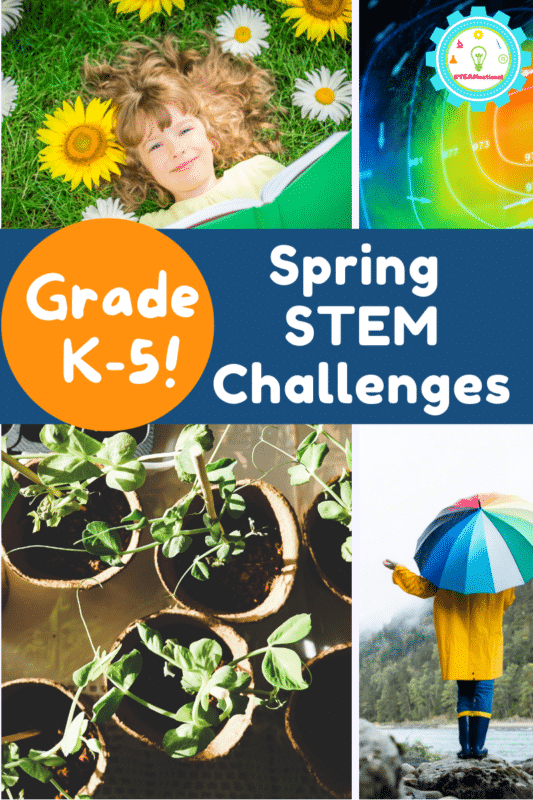 In this list of spring STEM challenges for kids, you'll find some of our very favorite spring STEM activity ideas for kids of all ages.