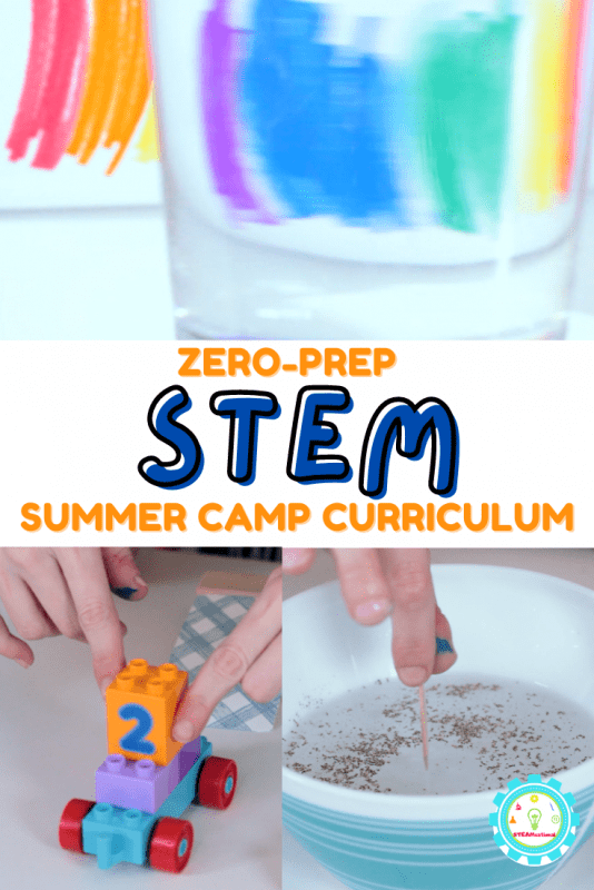 This low prep STEM summer camp curriculum is perfect for busy caregivers who love STEM but just don't have time to plan. Click, print, done!