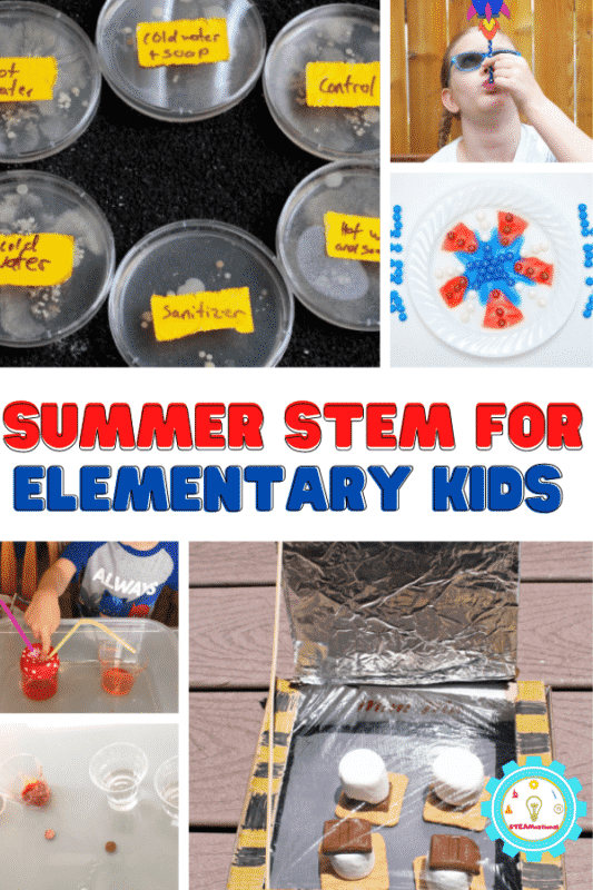 Summer STEM activities for elementary kids are so much fun to do! These 20 projects will keep kids busy and off screens all summer long.