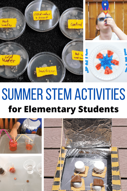 Summer STEM Activities Bucket List! - Over 20 summer STEM activities for elementary students that are fun and hands-on!
