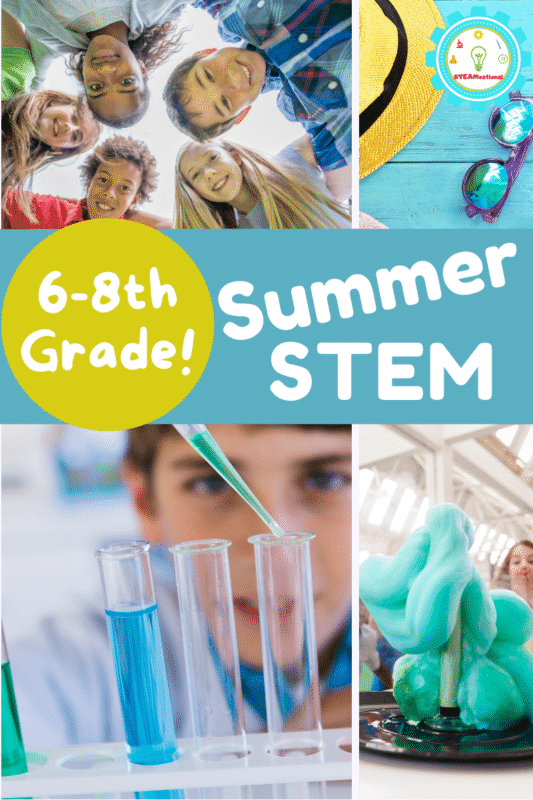 Keep boredom at bay with these awesome summer STEM activities for middle school! Who says middle school has to be boring?
