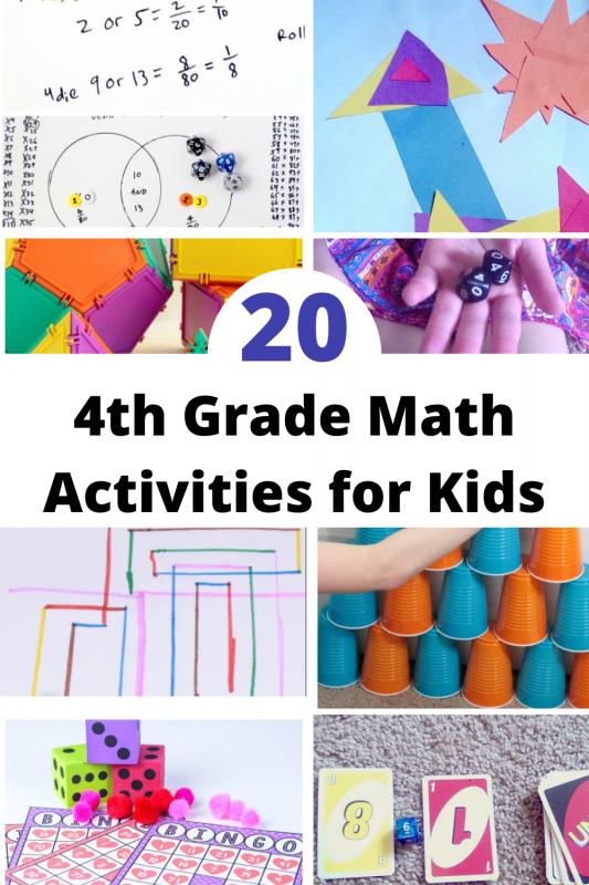 If you're teaching 4th grade, tutoring a 4th grade student, or have a 4th grader at home, you'll want to try these super fun math activities for 4th grade!