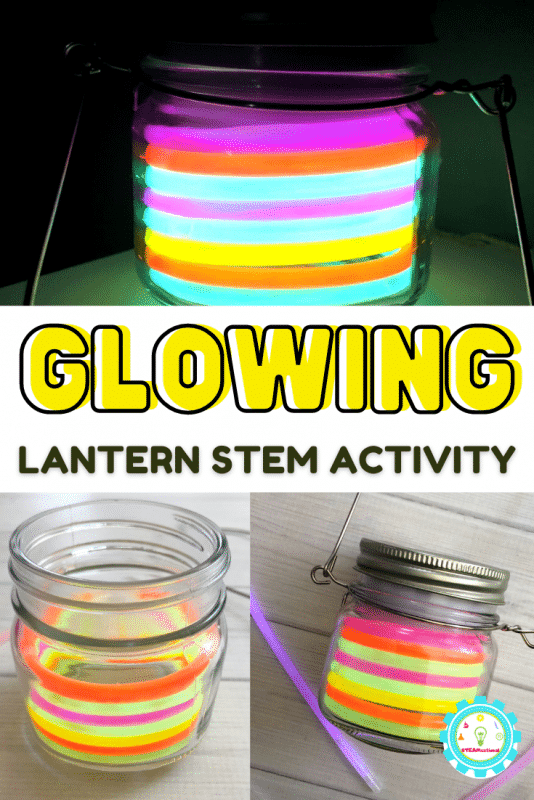 Follow these easy directions to make your own glow stick lantern! Then add in the glow stick STEM ideas to bring the activity to life!