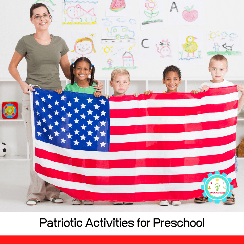 If you are working with a preschooler this summer, try some of these preschool patriotic activities!