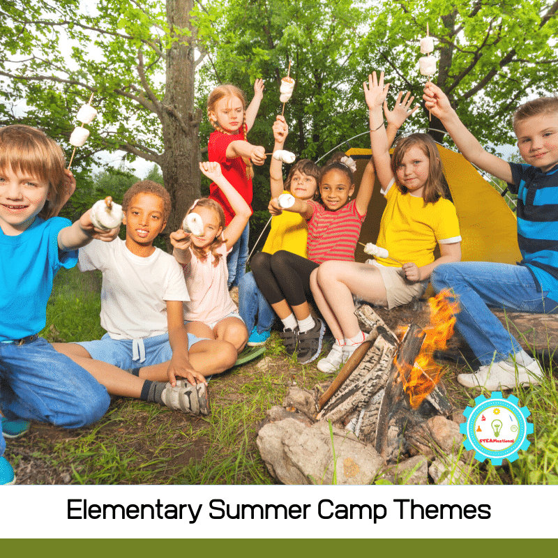 Over 20 creative summer camp themes for elementary kids! From space to art, you'll find a theme for every summer camp here!
