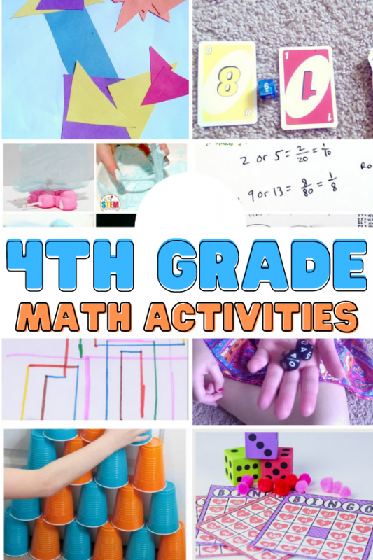 Each one of these 4th grade math activities gives a unique approach to work on math while providing them with the confidence-building skills kids need to excel in math!