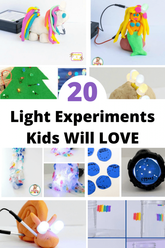 Kids love learning about light because it's something we use everyday. If you're learning about light, you'll want to try some of the light experiments on this list!