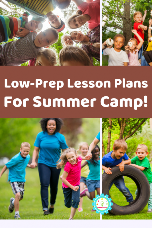 You don't have to spend hours planning summer camp! These low prep lesson plans for summer camp give you everything you need to put summer camp planning behind you.