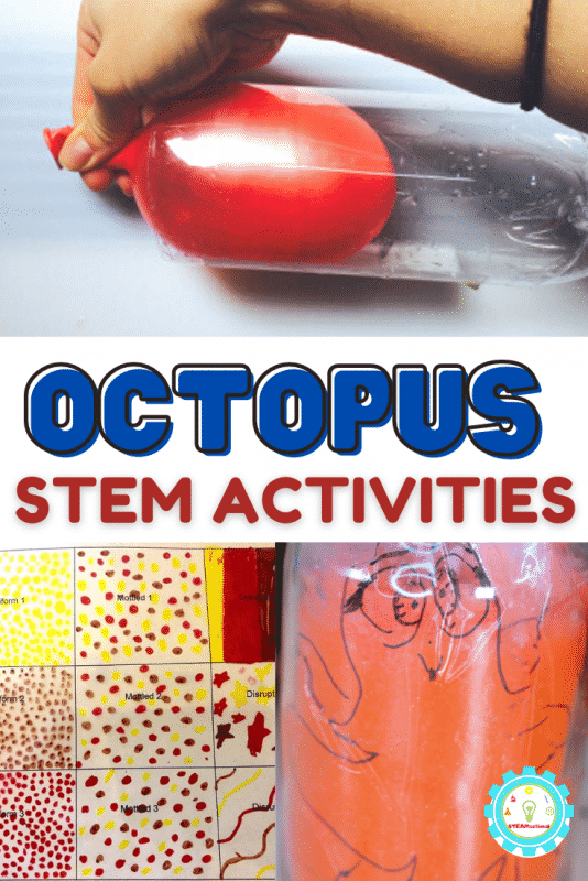 Check out the list below of our favorite octopus STEM activity ideas! You'll find octopus activities for science, octopus technology activities, octopus engineering activities, and octopus math worksheets!